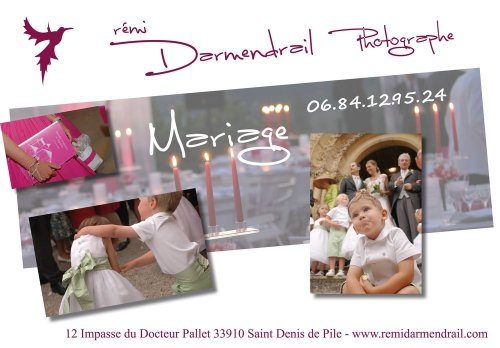 Photographe mariage - Darmendrail Rémi - photo 2
